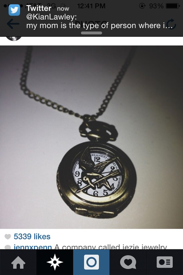 jewels the hunger games mockingjay necklace