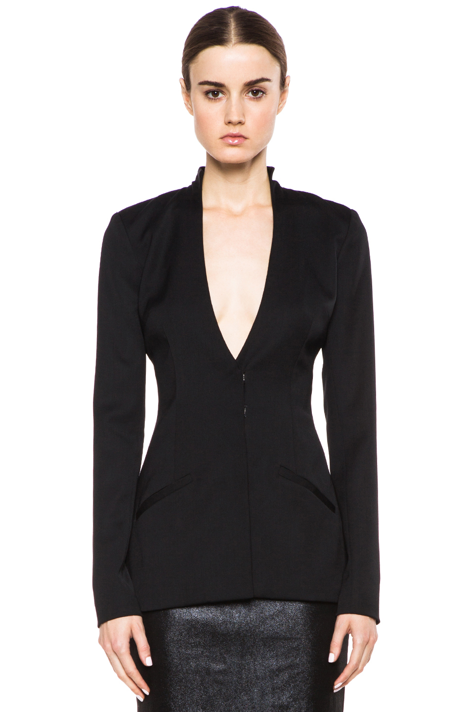 Cushnie et Ochs|Suiting Poly-Blend Blazer in Black