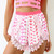Pink Shorts - Pink Printed High Waisted Shorts | UsTrendy