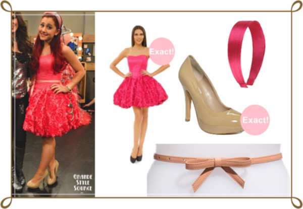 dress sam & cat piano flowers rose ariana grande cat valentine victorious cat valentine sweetheart dress