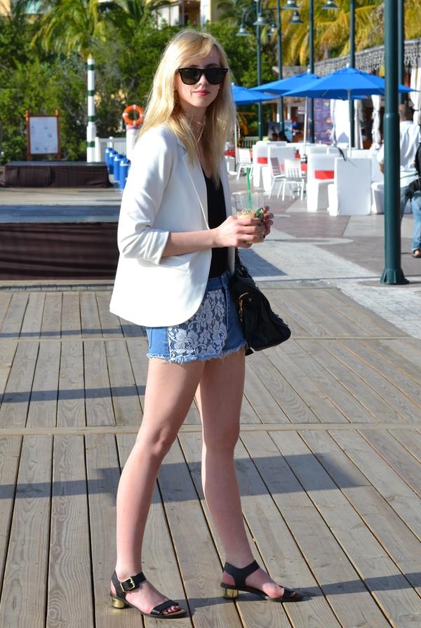 vogue haus shorts t-shirt jacket shoes bag jewels sunglasses