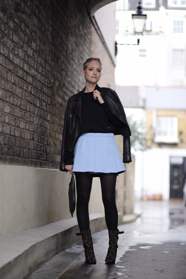 the fashion guitar sweater skirt jacket shoes bag