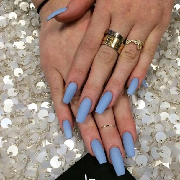 nail polish light blue
