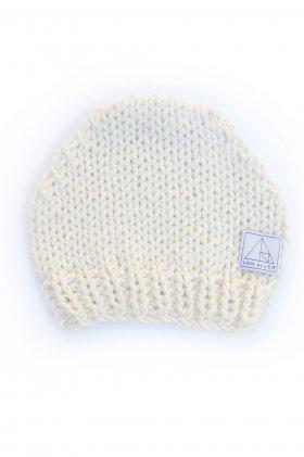 Varvara Hand Knit Beanie - Natural by Van Aller | The Grand Social
