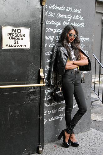 tuolomee jeans sunglasses bag jacket