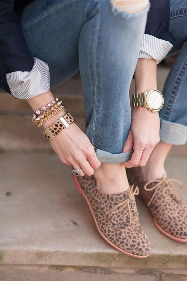 shoes leopard print nice