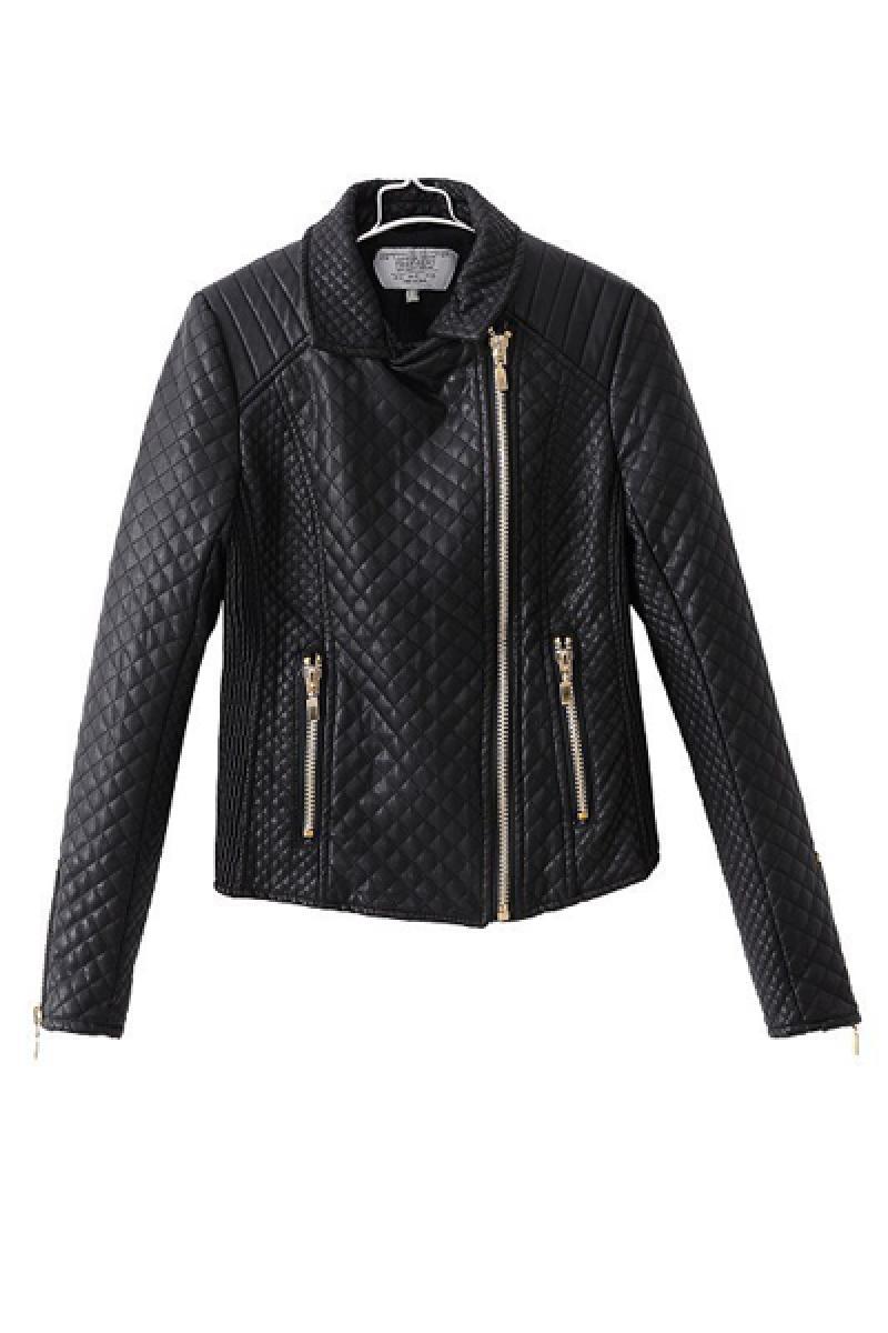 Autumn & Winter New Section PU Short Biker Jacket,Cheap in Wendybox.com