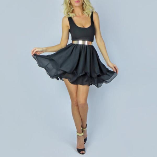 dress short dress party dress prom dress skater dress flare sexy dress belt
