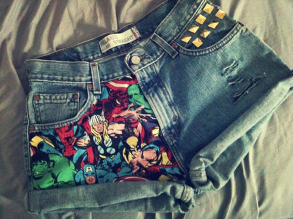 shorts marvel