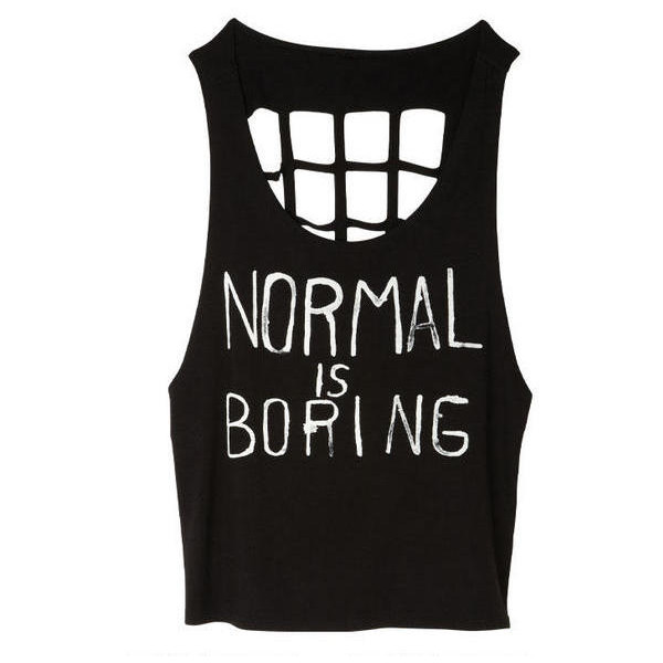 Normal is Boring Tank - Polyvore