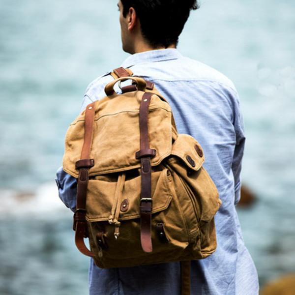 bag backpack mens backpack canvas backpack canvas rucksacks menswear hipster menswear mens accessories