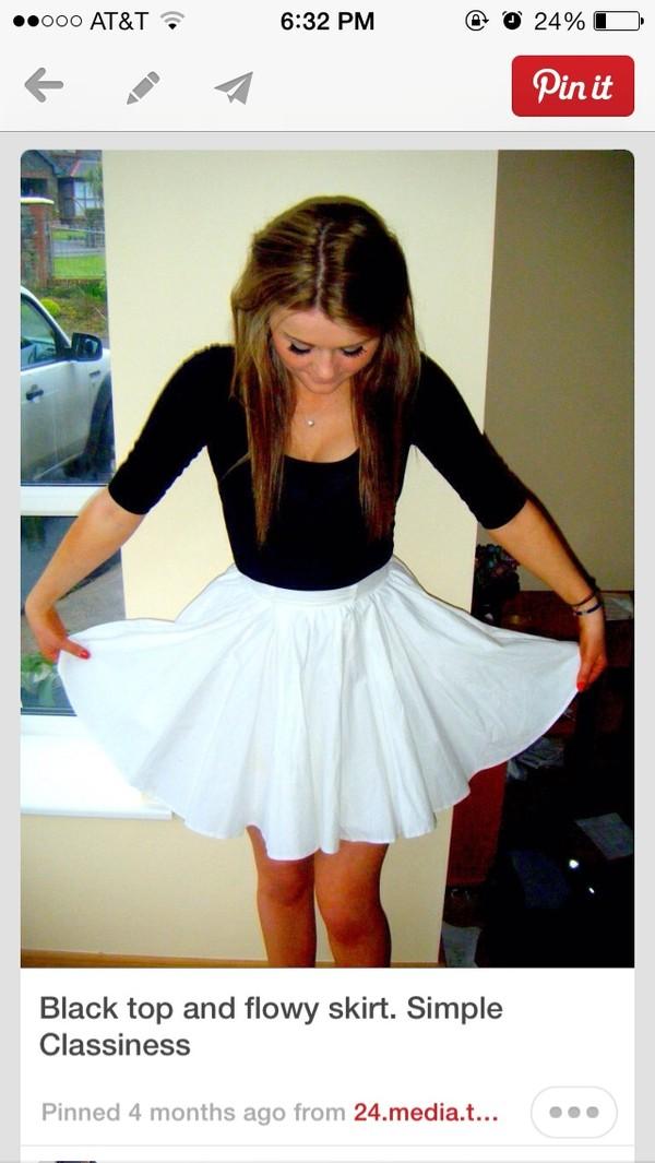 skirt cute pinterest black shirt black skater skater skirt shirt
