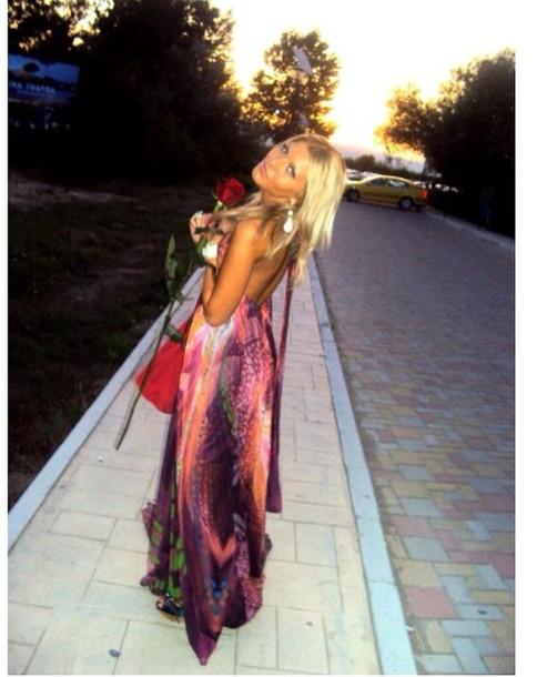 dress colorful dress beautiful prom dress long dress long prom dress