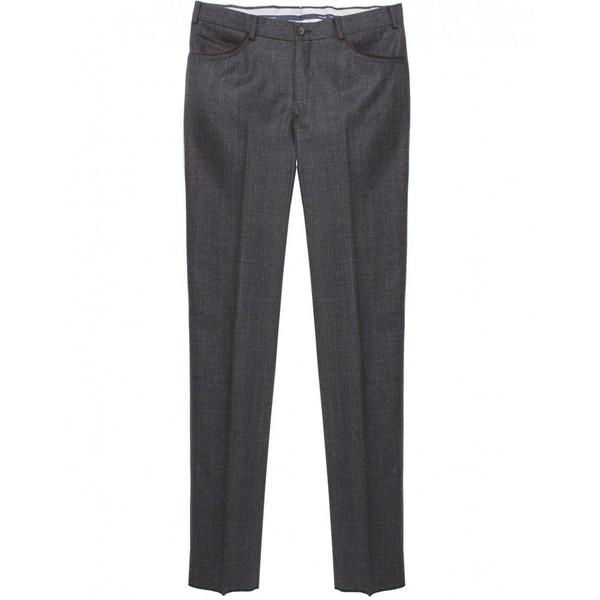 Men's Pal Zileri Subtle Check Wool Trousers - Polyvore