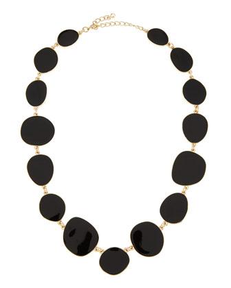 Blossom Box Carved Tassel Pendant Necklace, Black - Neiman Marcus Last Call