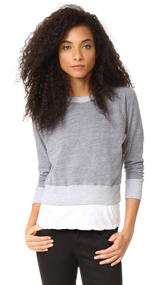 top monrow double layer sweatshirt fashion clothes fleece jersey