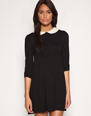 ASOS | ASOS Peterpan Collar Jersey Dress at ASOS
