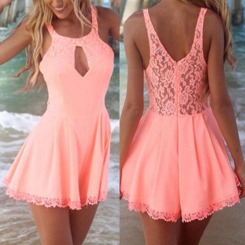 New Celeb Lace suit Summer ladies dress short jumpsuit from size 4-10 | eBay