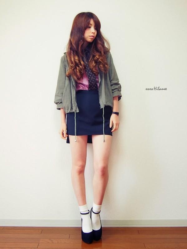 xoxo hilamee shirt skirt jacket t-shirt shoes