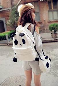New Korean Fashion Panda Picture Shoulder Bag Backpack Handbags 082   eBay