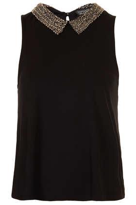 Bead Collar Swing Top - Tops  - Clothing  - Topshop USA