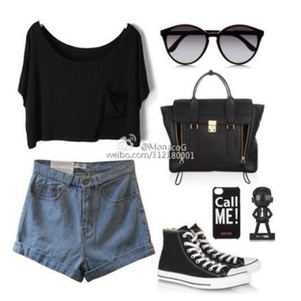 shorts sunglasses