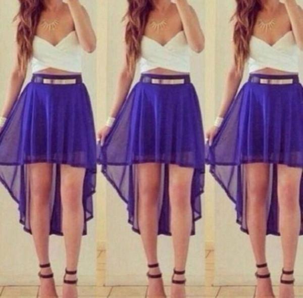 Asymmetric Chiffon Skirt | modhaus