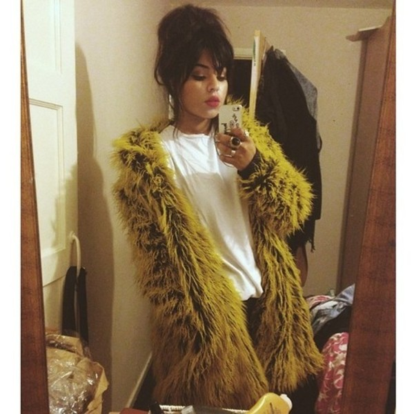 coat jacket faux fur jacket