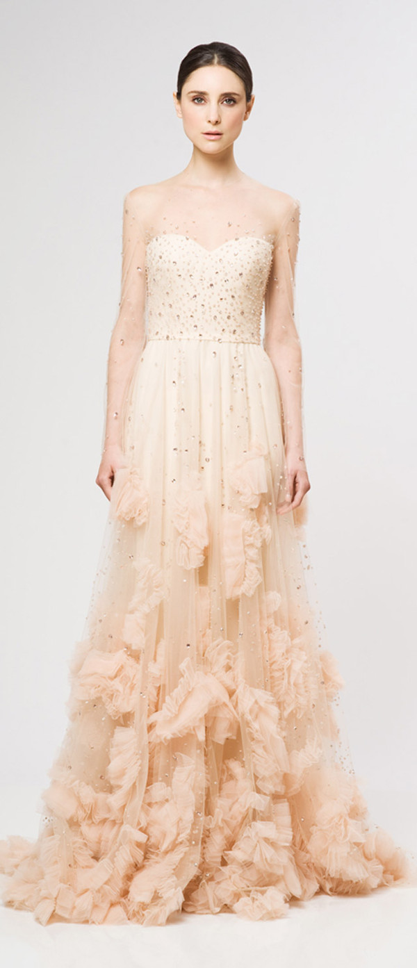 dress prom dress reem acra fashion long dress evening dress long evening dress