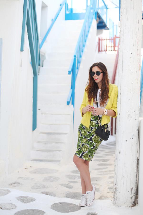 irene closet shoes sunglasses skirt bag