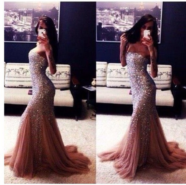prom dress long prom dress sparkle glamgerous