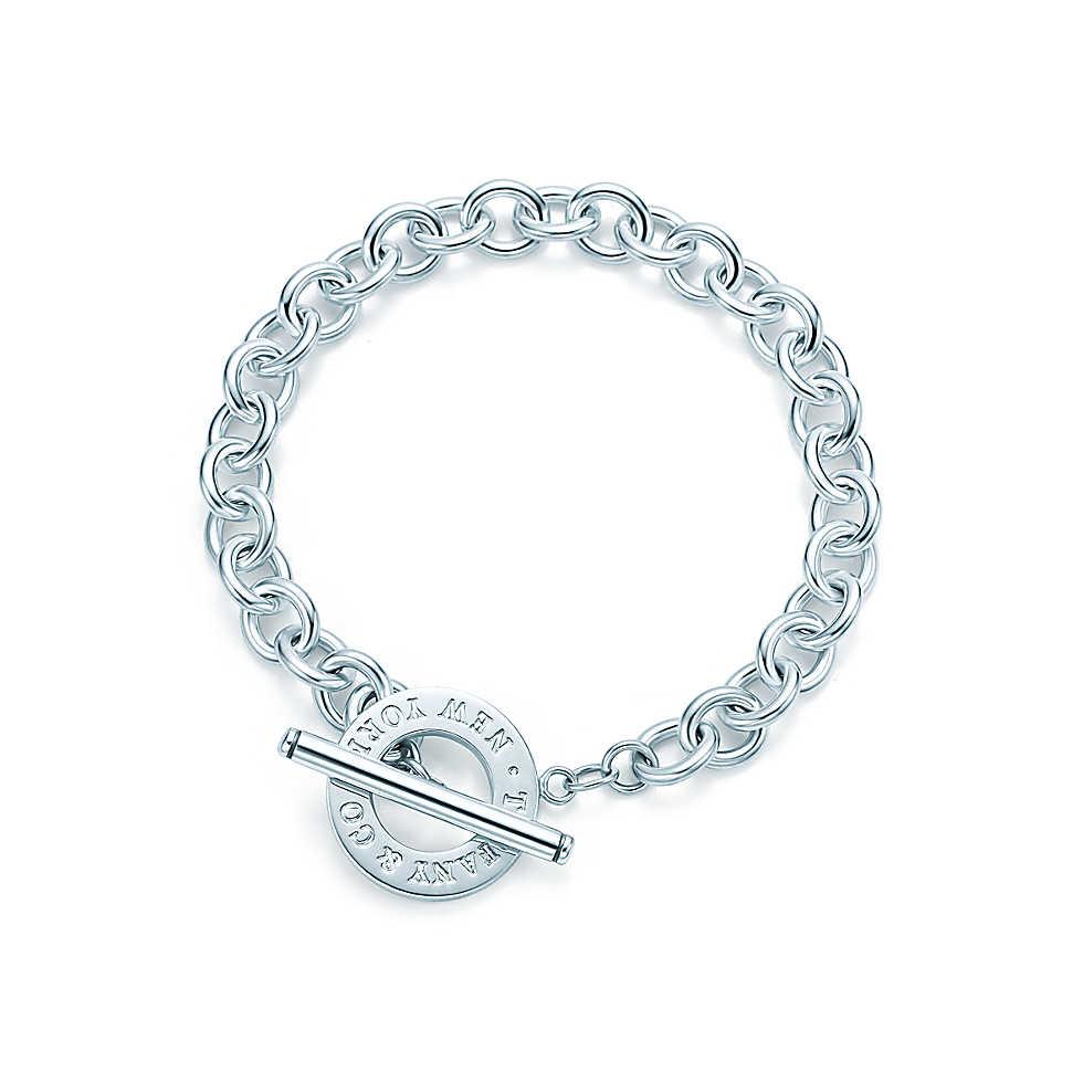Toggle bracelet in sterling silver.                        |         Tiffany & Co.
