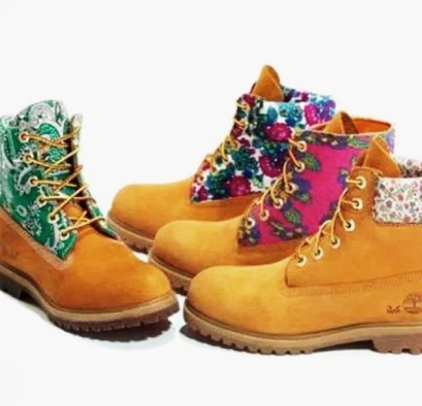 shoes floral timberlands