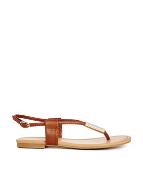 Flat sandals   Gladiators, leather & gold sandals   ASOS