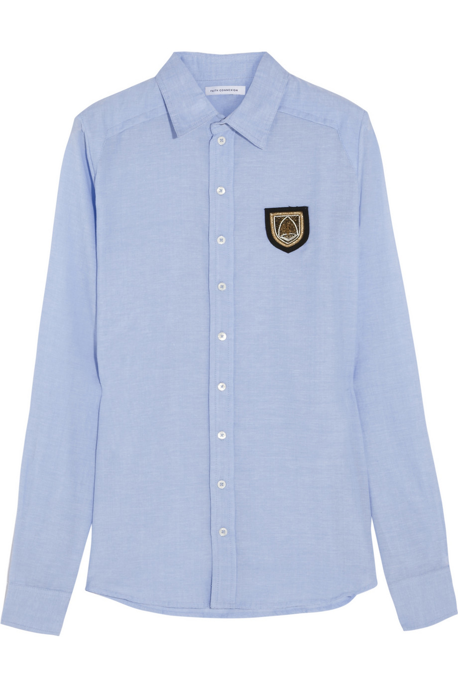 Embellished chambray shirt | Faith Connexion | THE OUTNET