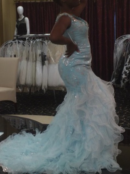 dress light blue cinderella gowns