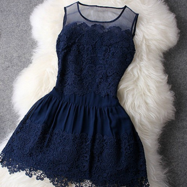 dress lace dress navy short blue dress blue dress lace flowers short dress sleeveless vintage vintage dress cute dress prom dress chic dress blue summer dress sundress little black dress black black dress dark blue lace on top dress short prom back to school spitze navy cute