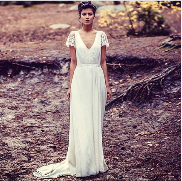 Dress Wedding Boho Bohemian