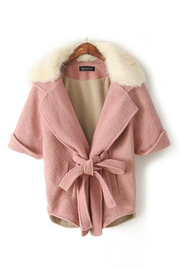 Sweet Style Cap Coat with Hood [FEBK0524]- US$ 65.99 - PersunMall.com