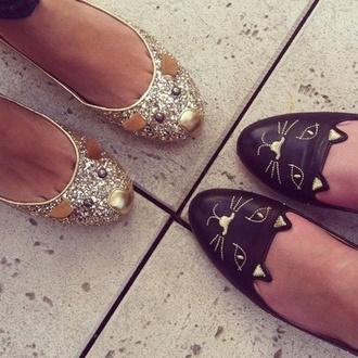 shoes cat shoes flats ballet flats sparkle glitter mouse