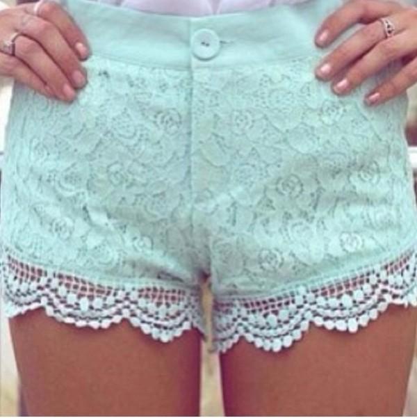 shorts cute mint shorts