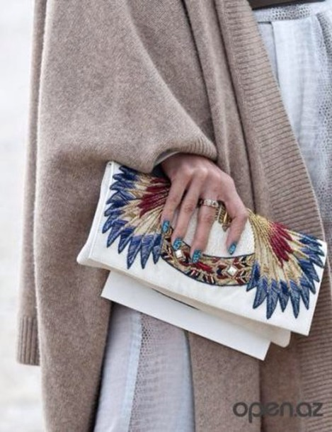 bag stylish style white bag