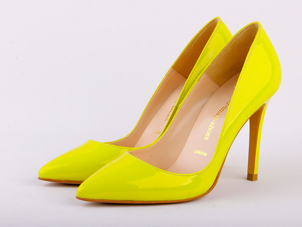 5 inch heels - Yellow Scalloped Stiletto Heels
