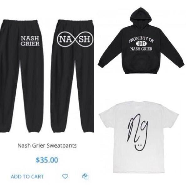 magcon nash grier sweatpants black