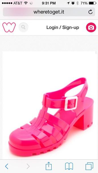 shoes heels jellies