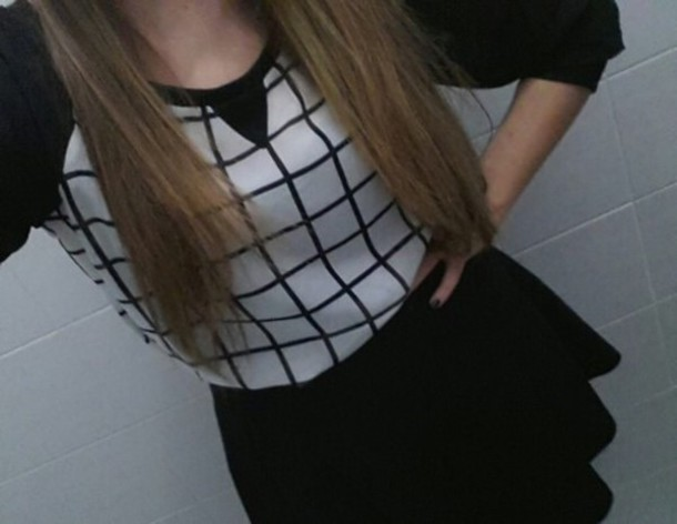 shirt black white
