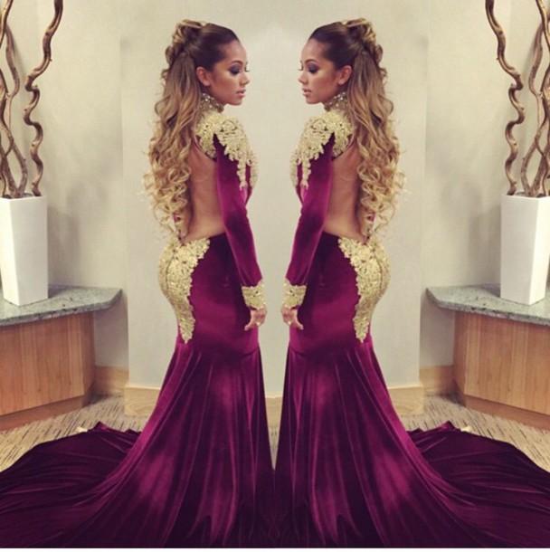 dress red dress prom dress mermaid prom dress long black dress with gold lace