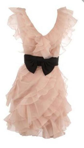 dress black bow ruffle dress mini dress scoop neck