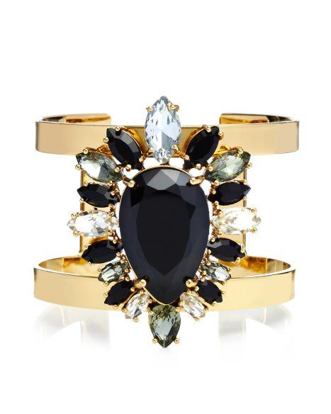 Multi Stone Cluster Drama Cuff - Jewelry - Juicy Couture
