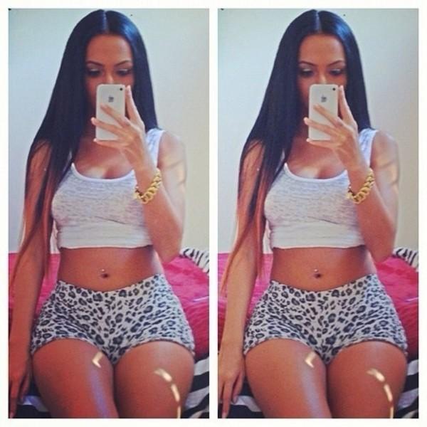 shorts leopard print white sweatshort teenagers girl urgent